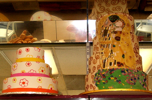 "Cakes at Larsen""™s Bakery in Seattle, WA"