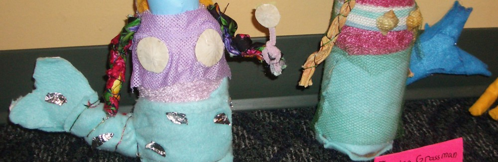 Earth Day Recycled Art Dolls