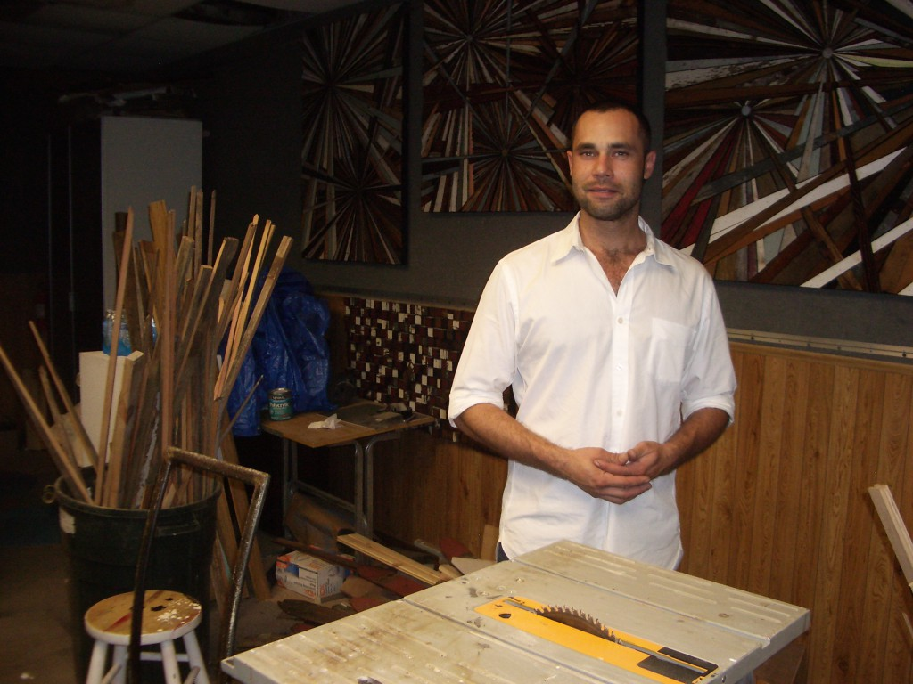 Roddy Wildeman in his studio