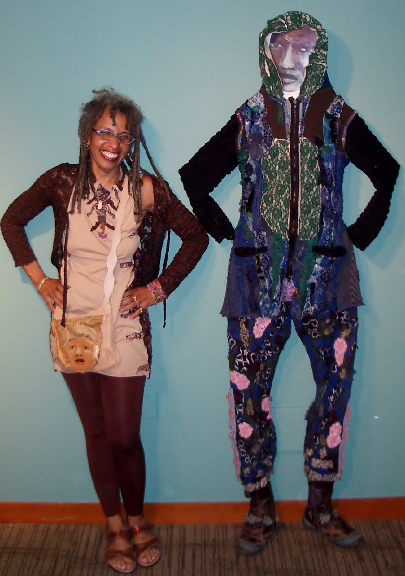 Marita Dingus at the NW African American Museum: Fashion-Free-For-All exhibit