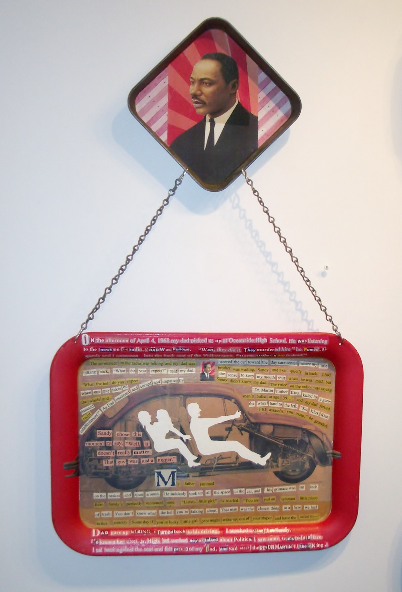 Assassination Day Trays by Deborah Faye Lawrence