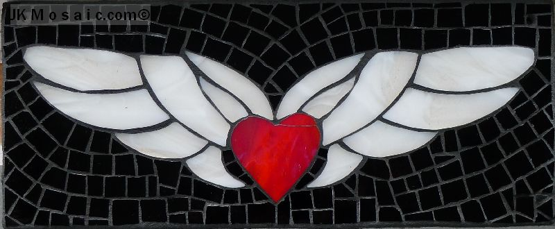 Jennifer Kuhns recycled glass mosaic heart
