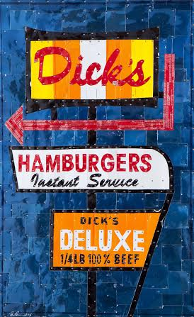 """Dick's Deluxe"" by Brian Brenno recycled tins"