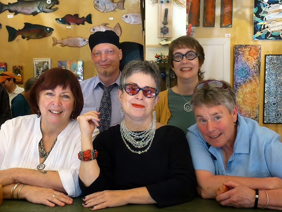 Matter Gallery 2014: front row: owners Roxanna Groves, Cha Davis, Jude Manley back row: Pat Tassoni and former employee Louise Morgan