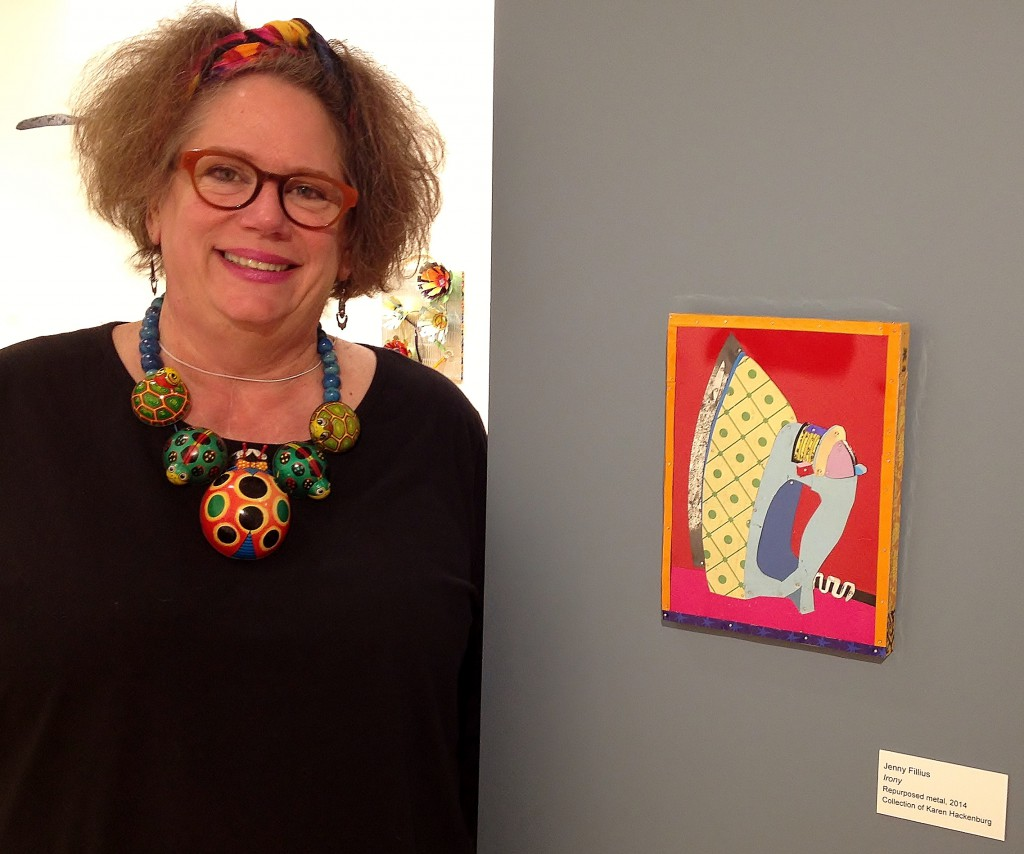 artist Jenny Fillius in Cut and Bent at BIMA