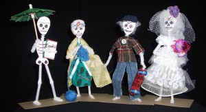 Day of the Dead figures by Diane Kurzyna