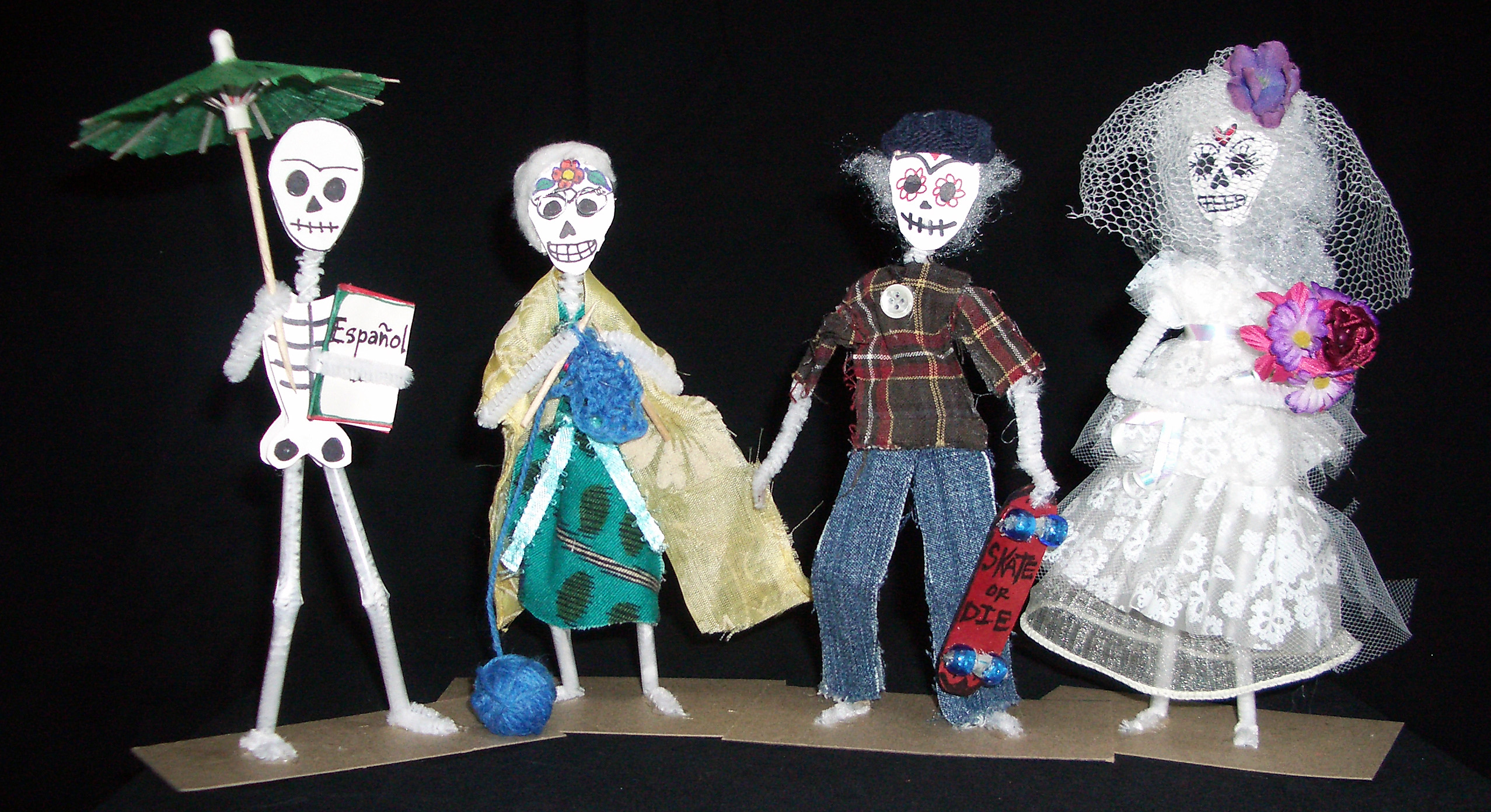 Day of the Dead figurines by Ruby Re-Usable