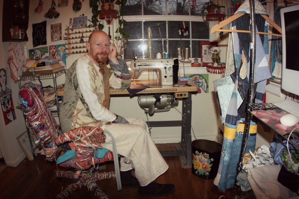 Danny Mansmith in his studio photo by Autumn Anglin