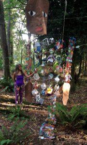 Marita Dingus work-in-progress 27 foot figure for BIMA