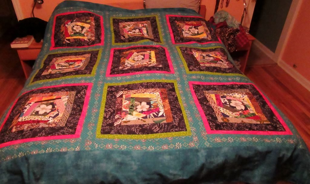finished Crazy Quilt duvet cover by Ruby Re-Usable